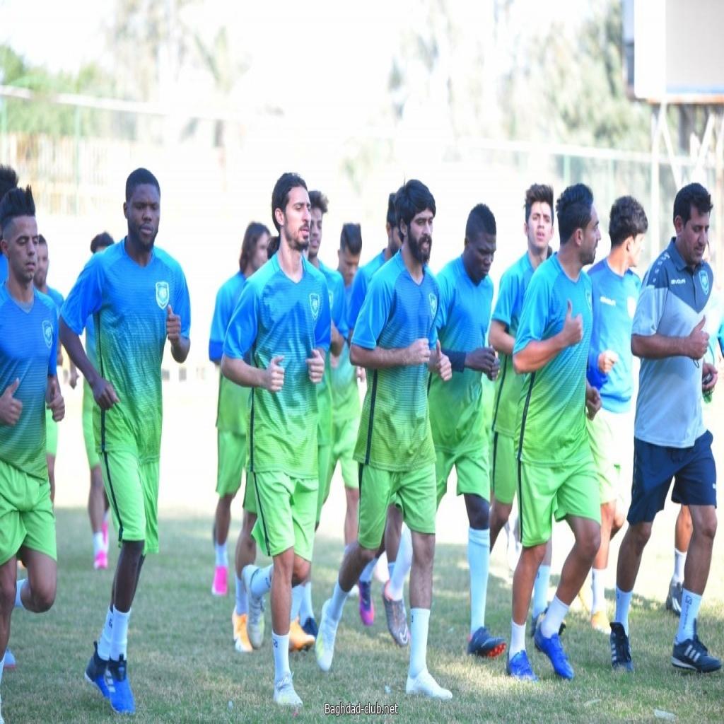 بالصور فريق أمانة بغداد يعاود تدريباته على ملعبه، تحضيراً لمباراة الديوانية ضمن بطولة الكأس